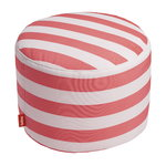Point Outdoor pouf,  striped, red - white