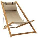 H55 easy chair, teak - canvas