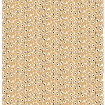 Mini Unikko fabric, off white-beige-dark blue