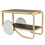 Aalto tea trolley 901, black - birch