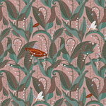 Lily of the Valley Mauve wallpaper, uncoated