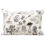 Mielenmaisemia cushion cover, 40 x 60 cm, white - black