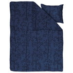 Set copripiumone e federa Taika, 150 x 210, blu