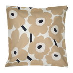 Pieni Unikko cushion cover 50 x 50 cm, off white-beige-dark blue