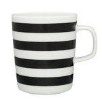 Marimekko Oiva - Tasaraita mug 2,5 dl, black - white