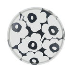 Unikko tin tray, grey - white