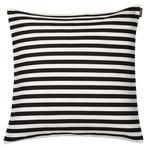 Tasaraita tyynynp��llinen 40 x 40 cm, luonnonvalkoinen - musta