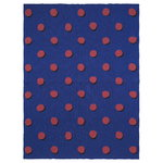 Coperta Double Dot, blu