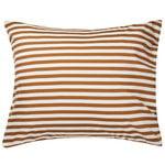 Tasaraita tyynyliina,  luonnonvalkoinen - ruskea