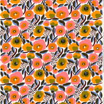Rosarium cotton batiste fabric, white