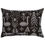 Maailman synty cushion cover, 40 x 60 cm, black - white