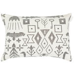 Saana ja Olli Maailman synty cushion cover, 40 x 60 cm, white - black