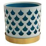 Trio flower pot, white drop