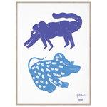 MADO Two Creatures juliste, 50 x 70 cm, sininen
