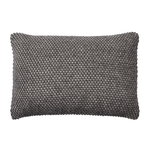 Twine cushion 40 x 60 cm, dark grey