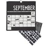 Wall calendar 2019, black