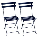 Bistro Metal chair, 2 pcs, deep blue