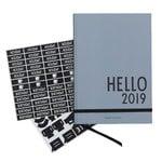 Calendar A5 2019, grey