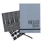 Calendario A5 2019, grigio