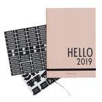 Calendar A5 2019, nude