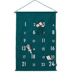 Design Letters Christmas calendar, green