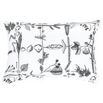 Myrskyn jälkeen cushion cover, 40 x 60 cm, white - black