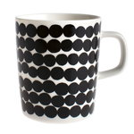 Marimekko Oiva - Siirtolapuutarha Räsymatto mug 2,5 dl, black-white