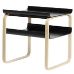 Aalto side table 915, black - birch