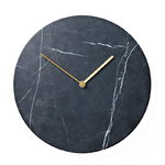 Menu Marble wall clock, black