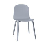 Visu chair, wood frame, grey