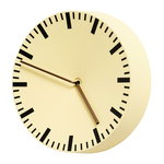Analog wall clock, light yellow