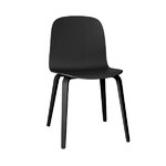 Visu chair, wood frame, black