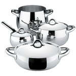 Alessi Mami cookware set, 4 pots with 3 lids
