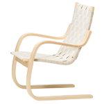 Aalto Armchair 406, natural linen