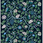 Tiara fabric, blue-green-grey