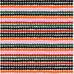 Räsymatto fabric, orange-green-black