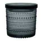 Iittala Kastehelmi jar 116 x 114 mm, dark grey