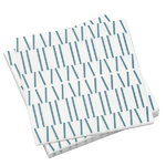 Broken Lines paperiservetti, sininen