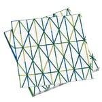 Grid paperiservetti, vihreä