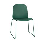 Muuto Visu chair, steel frame, dark green