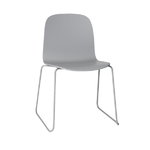Visu chair, steel frame, grey