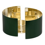 Infinity candle holder, small, dark green