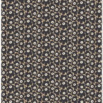 Mini Unikko fabric, beige - dark grey - brown