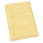 Artek Rivi acrylic coated cotton fabric, 145 x 300 cm, mustard-white