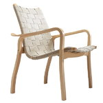Swedese Primo armchair low back, natural webbing