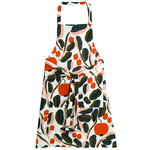Jaspi apron, white - red