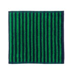 Kaksi Raitaa mini towel, dark blue - green