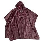 Mono rain poncho, burgundy