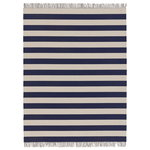 Big stripe rug, navy blue - light sand