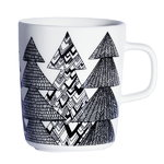 Oiva - Kuusikossa mug 2,5 dl, black - white